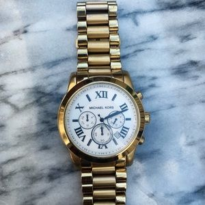 Michael Kors Bradshaw watch gold with white face